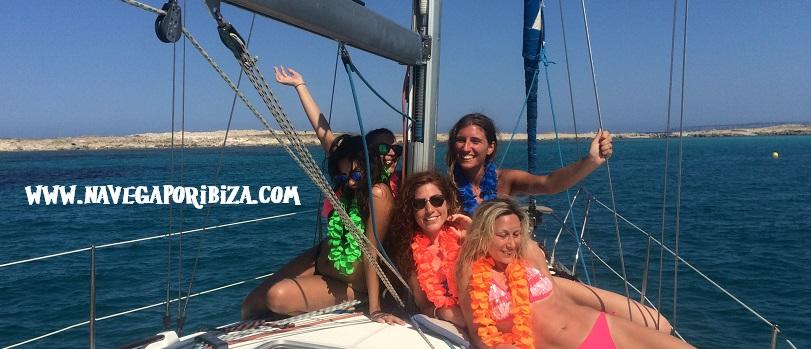 despedida de soltera en barco en ibiza y Formentera
