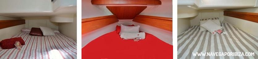 camarotes para pasar la noche en barco en ibiza