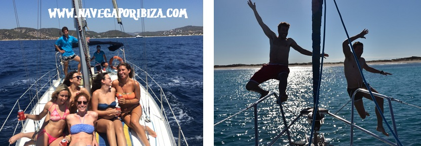 Alquiler velero Ibiza para dia o medio dia
