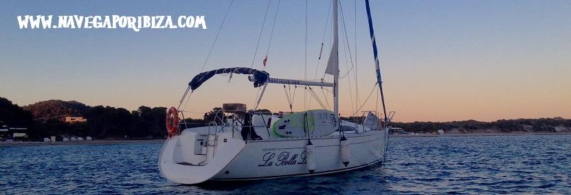 Noche romántica en velero Ibiza