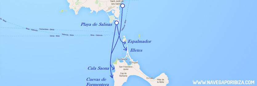 rutas en barco en formentera